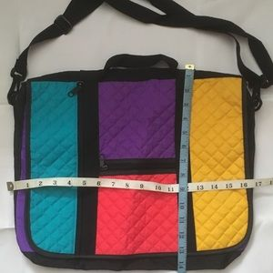 Bags - Bright nylon color blocked messenger bag.